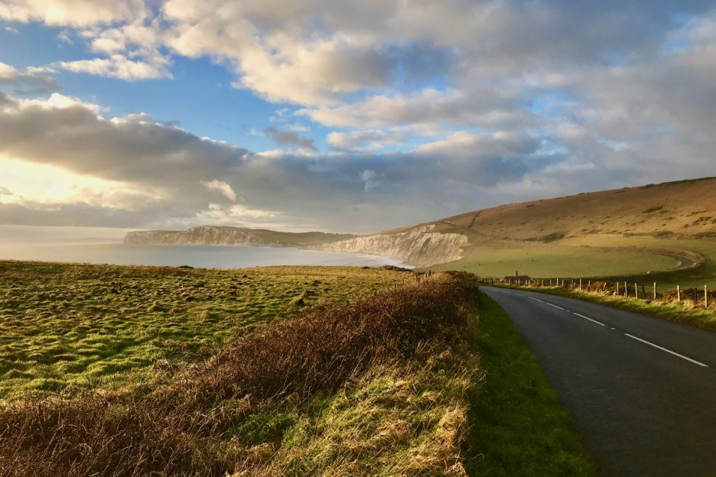 Cycling road on Military Road, Isle of Wight