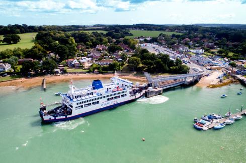 Fishbourne ferry port