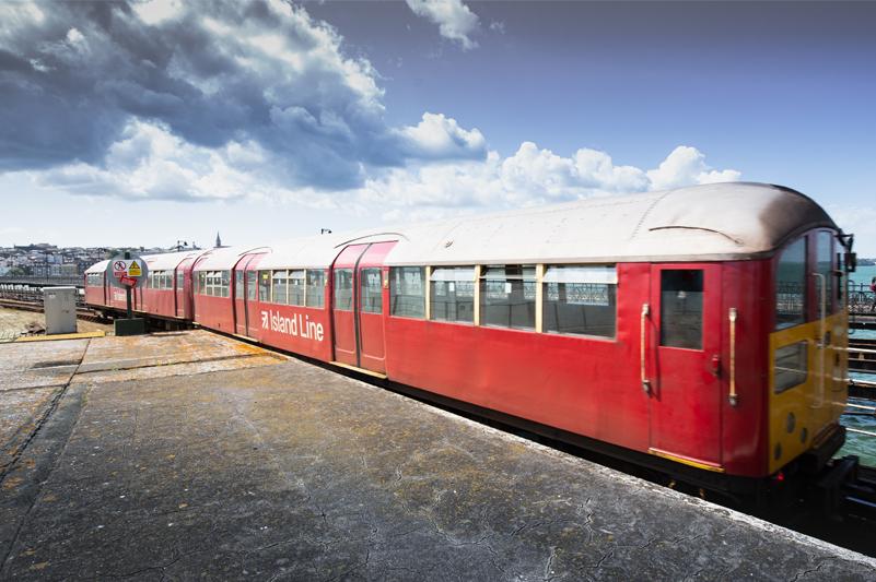 Island Line train at Ryde Esplanade