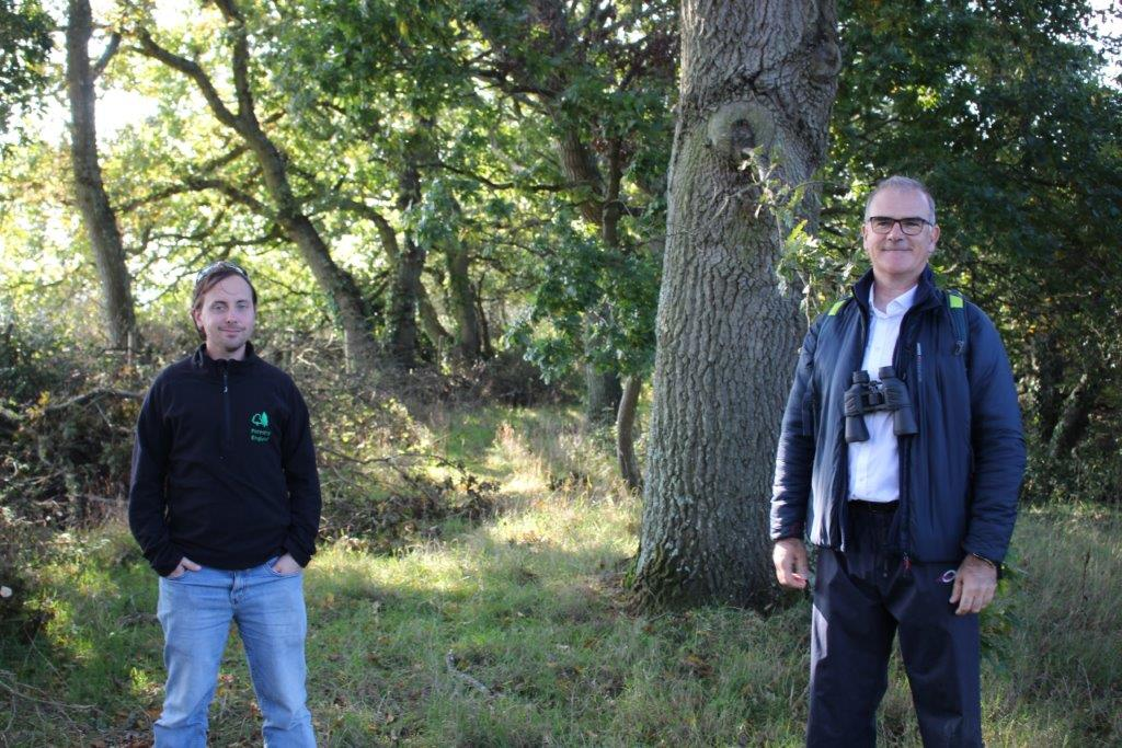 Wightlink's Keith Greenfield and Steve Egerton-Read from the Forestry Commission