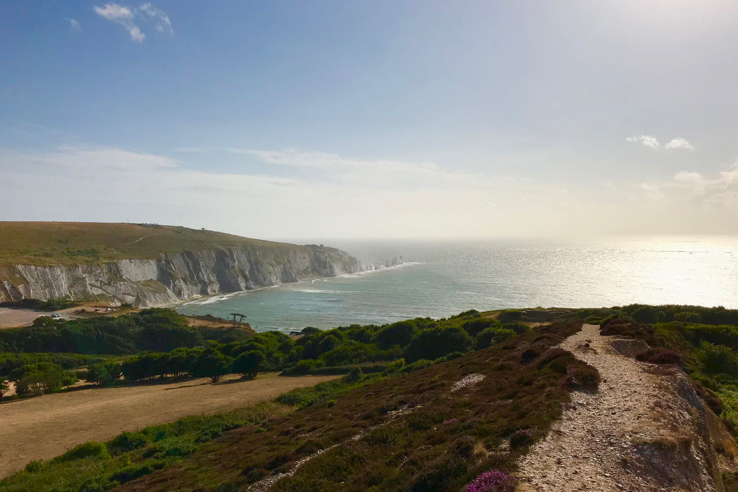 View across to The Needles, Isle of Wight