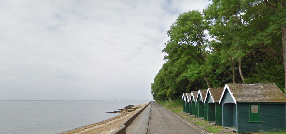 Beach huts on East Cowes Esplanade, Isle of Wight