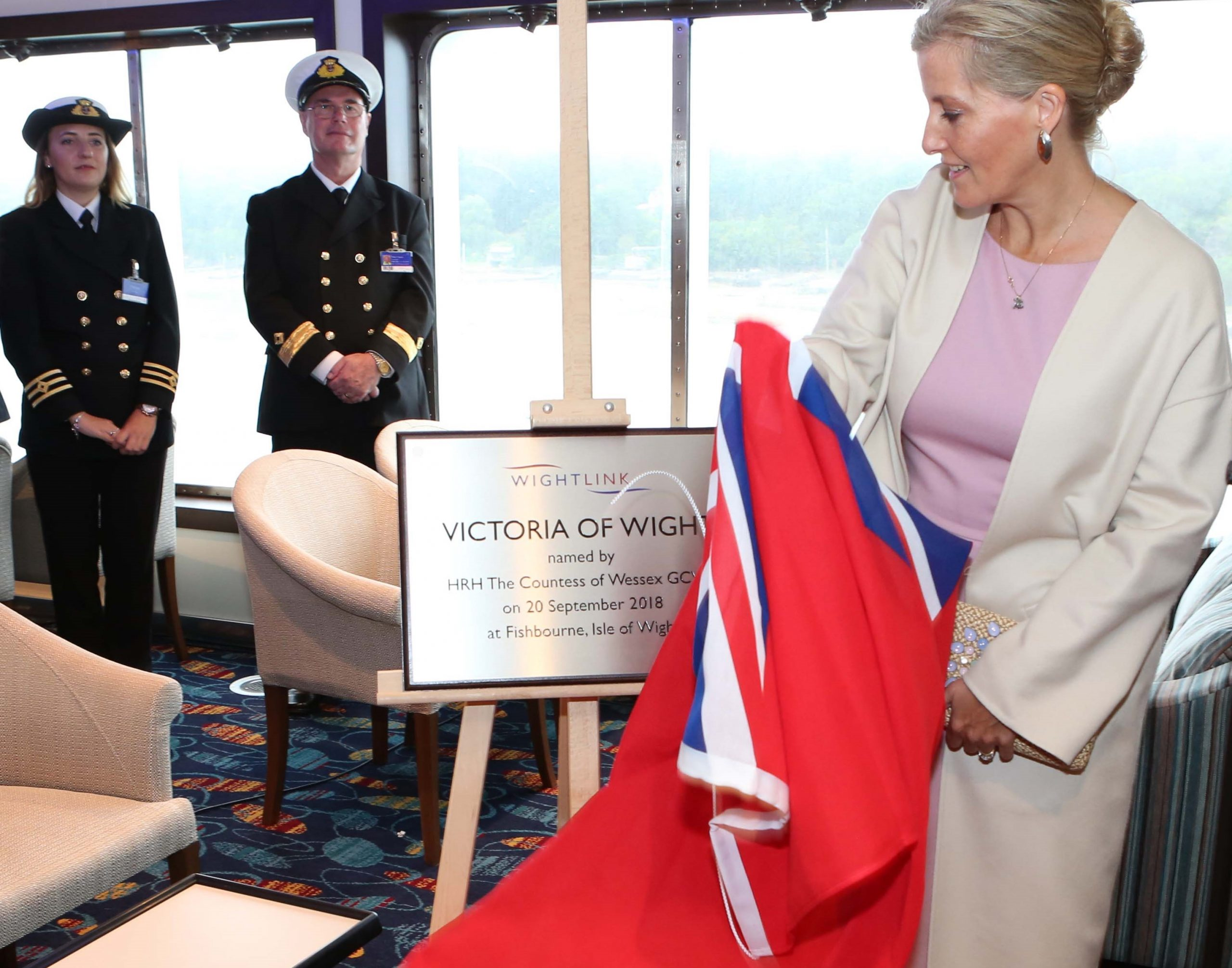Victoria of Wight Naming Cermony with the countess of Wessex Wightlink